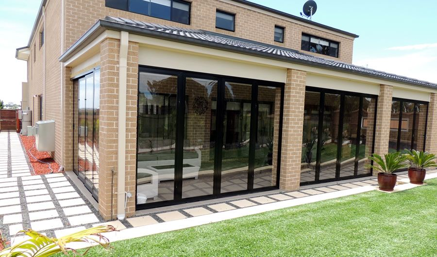 PVC Bi fold opti screen doors to create the perfect outdoor room finish Sandhurst Melbourne Vic